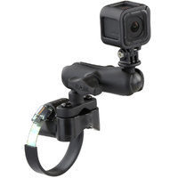 "RAM Strap Clamp Roll Bar Mount with 1"" Ball & GoPro® Hero Adapter"