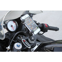 RAM Fork Stem Mount With Short Double Socket Arm & Universal RAM X-Grip Mobile Phone Cradle