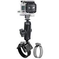 RAM Strap Clamp Mount with Universal Action Camera Adapter