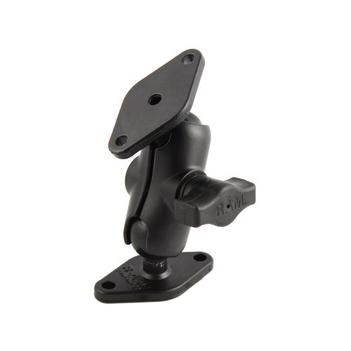 "Ram 1"" Ball Mount with Short Arm & 2 Diamond Bases RAM-B-102U-A"