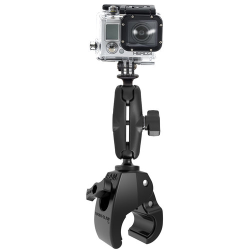 RAM Medium Tough-Claw Mount with Universal Action Camera Adapter